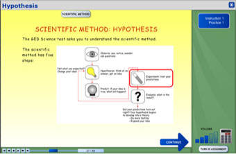 Screenshot of science program: Science as Inquiry